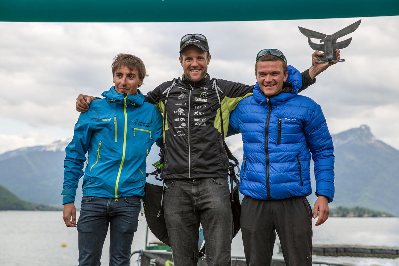 podium de la Bornes To Fly 2016, compétition de marche en vol en parapente